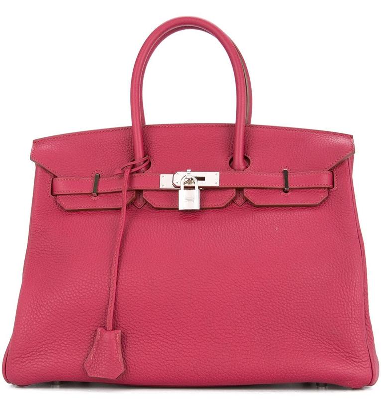 Фото сумки ГермесBirkin35. Цвет: розовый.